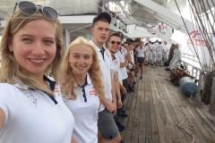 Honorata Sierocka, studentka Wydziału Elektrycznego PB, wzięła udział w Rejsie Niepodległości na pokładzie Daru Młodzieży (fot. z arch. H. Sierockiej)