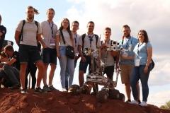 Argo Team podczas European Rover Challenge 2018. Pierwsza z prawej: Aneta Łukowska