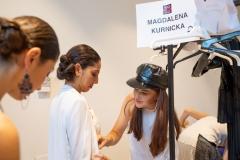 Backstage pokazu podczas Fashion Week Mediolan, fot. Marcin Szabłowski