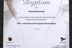 """Dyplom """"Ambasador Polskiej Wynalazczości - Giełda Wynalazków 2018"""""""