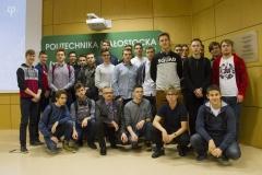 Inspiracje na Politechnice, grupa uczniów z Zespołu Szkół Elektrycznych