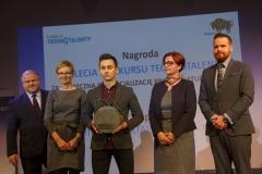Gala Konkursu Technotalent 2018 - Nagroda z okazji 5-lecia Konkursu Technotalent, firma Photon Entertainment nagrodzona za skuteczną komercjalizację