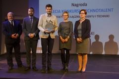 Gala Konkursu Technotalent 2018 - Nagroda z okazji 5-lecia Konkursu Technotalent, Jan Godlewski doceniony za efektywne łączenie designu i techniki