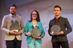 Gala Konkursu Technotalent 2018 - Nagrody z okazji 5-lecia Konkursu Technotalent, Ewelina Brzozowska, Jan Godlewski, Krzysztof Dziemiańczuk (Photon Entertainment)