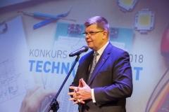 Gala Konkursu Technotalent 2018 - Marszałek województwa podlaskiego w kadencji 2014-2018 Jerzy Leszczyński