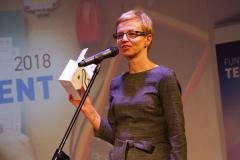 Gala Konkursu Technotalent 2018 - Wiceprezes Zarządu Fundacji Technotalent dr Jolanta Koszelew