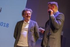 Gala Konkursu Technotalent 2018 - Prorektor ds. Studenckich dr hab. Jarosław Perszko, prof. PB i wiceprezes Fundacji Technotalenty Tomasz Stypułkowski