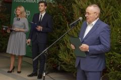 Spotkanie opłatkowe pracowników i studentów Politechniki Białostockiej, rektor prof. Lech Dzienis