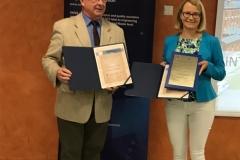Wręczenie europejskich certyfikatów EUR-ACE® na posiedzeniu Komisja Akredytacyjnej Uczelni Technicznych (KAUT) 26 czerwca 2019 r. w Łodzi