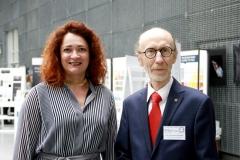 Prorektor Marta Kosior-Kazberuk oraz Dziekan Aleksander Asanowicz. Konferencja Bauhaus na Wydziale Architektury PB