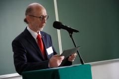 Dziekan WA PB dr hab. inż. arch. Aleksander Asanowicz, prof. PB. Konferencja Bauhaus na Wydziale Architektury PB