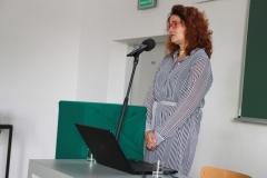 Prorektor ds. Kształcenia i Współpracy Międzynarodowej dr hab. inż. Marta Kosior-Kazberuk, prof. PB. Konferencja Bauhaus na Wydziale Architektury PB