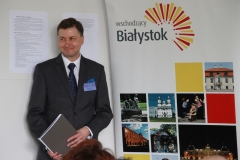 Dr hab. inż. arch. Bartosz Czarnecki, prof. PB. Konferencja Bauhaus na Wydziale Architektury PB