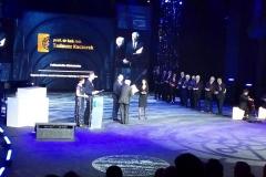 Prof. Kaczorek odbiera nagrodę podczas Gali Nauki Polskiej, 19 lutego 2020 r.