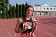Marlena Gola - reprezentantka Politechniki Białostockiej na zawodach AMP w Łodzi