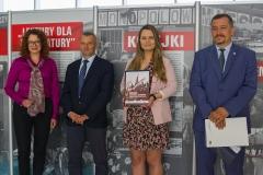 od lewej: prof. Marta Kosior-Kazberuk, dr Marek Kietliński, Karolina Dobek, dr Paweł Myszkowski
