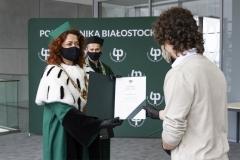 """Wręczenie certyfikatów """"Super Student Politechniki Białostockiej"""" - Łukasz Kowalczuk"""