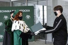 """Wręczenie certyfikatów """"Super Student Politechniki Białostockiej"""" - Kamil Barszczewski"""