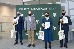 Od lewej: Adam Adamowicz, Jarosław Szusta, Anna Falkowska, Szczepan Piszczatowski