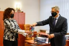Rektor PB dr hab. inż. Marta Kosior-Kazberuk, prof. PB i Dziekan Wydziału Elektrycznego dr hab. inż. Bogusław Butryło, prof. PB