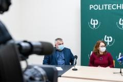 Od lewej: dr Marek Kiluk, dr hab. Zyta Beata Wojszel - przedstawiciele Szpitala MSWiA w Białymstoku
