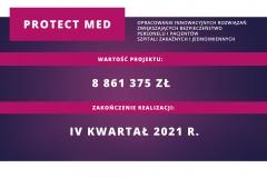 Plansza informacyjna projektu Protect Med: wartość i termin realizacji projektu