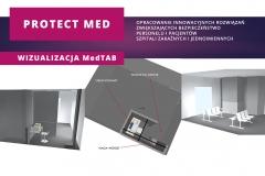 Plansza informacyjna projektu Protect Med: wizualizacja MedTAB