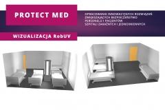 Plansza informacyjna projektu Protect Med: wizualizacja RobUV
