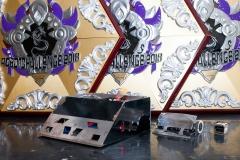 Nagrody zdobyte na zawodach RobotChallenge w Chinach w 2018 roku. fot. z archiwum SumoMasters
