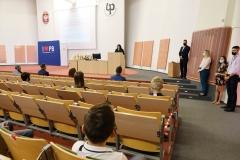 Uroczystość zakończenia dwóch edycji Podlaskiego Uniwersytetu Dziecięcego na Politechnice Białostockiej, 11 września 2021 r., fot. Katarzyna Cichoń (2)