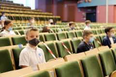 Uroczystość zakończenia dwóch edycji Podlaskiego Uniwersytetu Dziecięcego na Politechnice Białostockiej, 11 września 2021 r., fot. Katarzyna Cichoń (4)