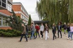 Wizyta uczniów I LO w Białymstoku na Wydziale Elektrycznym, 16 września 2021 r., fot. G. Kościuk