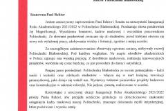 List gratulacyjny od Posła do Parlamentu Europejskiego Krzysztofa Jurgiela
