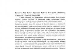 List gratulacyjny od Senatora RP Mariusza Krzysztofa Gromko