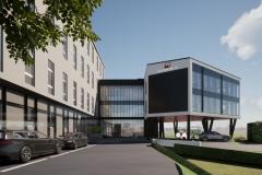 Wizualizacja budynku Polskiego Centrum BIM w Białymstoku, mat. Polski Klaster Budowlany (1)