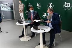 Podpisanie porozumienia o współpracy pomiędzy Politechniką Białostocką a Gminą Olecko, dnia 21.07.2021; fot. G. Kościuk