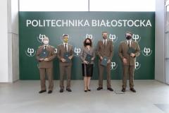 Konferencja z dnia 5.10.2021 pt.: Politechnika Białostocka rozpoczyna współpracę z czterema parkami narodowym; fot. Gabriela Kościuk