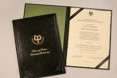 Dyplom honorowy profesor. fot. 20