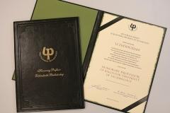 Dyplom honorowy profesor. fot. 19