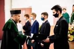 Inauguracja roku akademickiego 2020/2021 na Politechnice Białostockiej. Uroczystość 8 października 2020 r. Fot. M. Obrycki