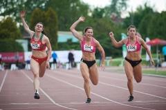 AMP w lekkiej atletyce 2021, od lewej: Marlena Gola, Paulina Paluch, Magdalena Stefanowicz, fot. Rafał Oleksiewicz