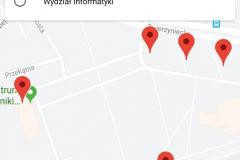 Aplikacja Mobilny USOS PB. Mapa
